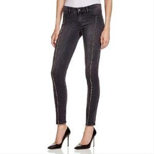 PAIGE Denim Trixie Luxe Grey Zip Skinny Jeans 28